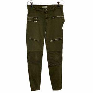 Zara Women's Size 4  Moto Skinny Jeans w Zippers